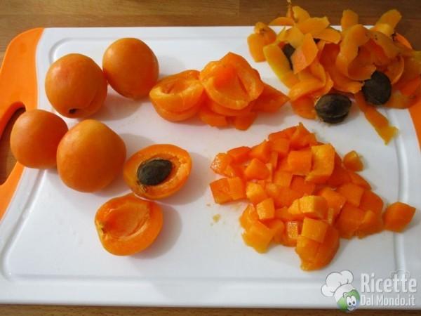 Torta soffice di albicocche fresche 2