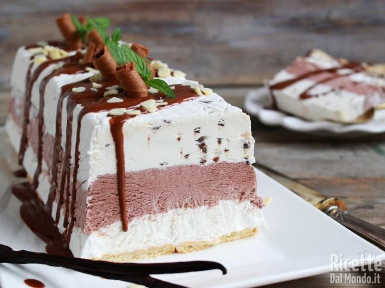 Ricetta torta gelato vaniglia e cioccolato