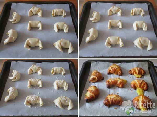 Cornetti di pasta sfoglia al cioccolato 7