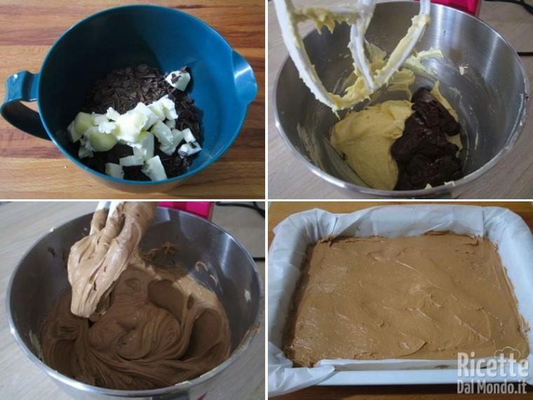 Cheesecake su base di brownies 3