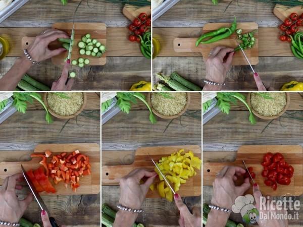 Insalata fredda di riso e verdure 2