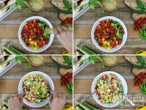 Insalata fredda di riso e verdure 4