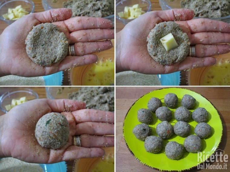 Polpette fritte ripiene di funghi 5