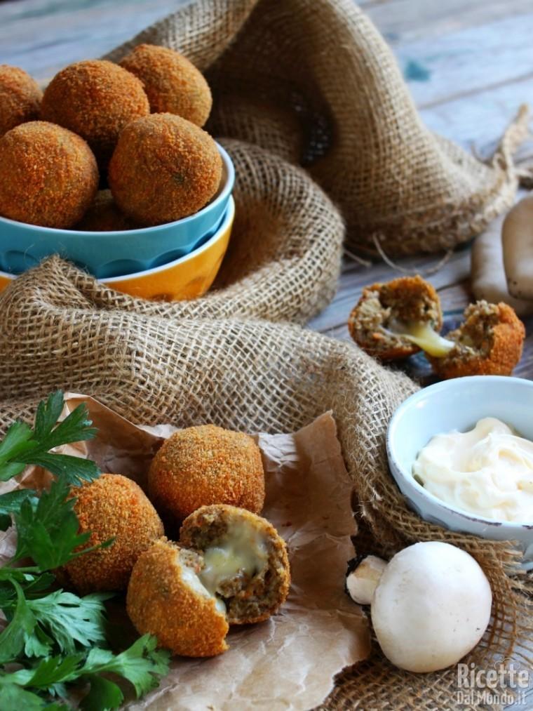 Polpette di funghi senza carne