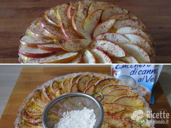 Crostata di mele e crema 8