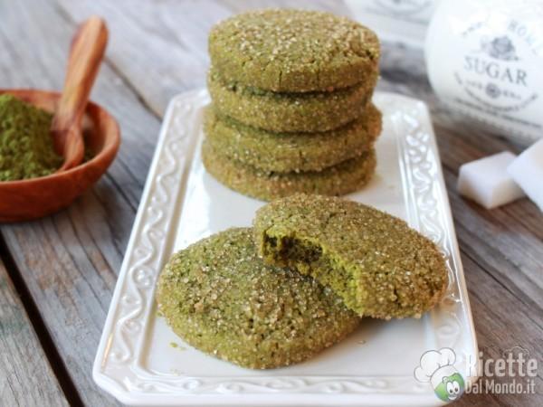 Ricetta biscotti al tè matcha