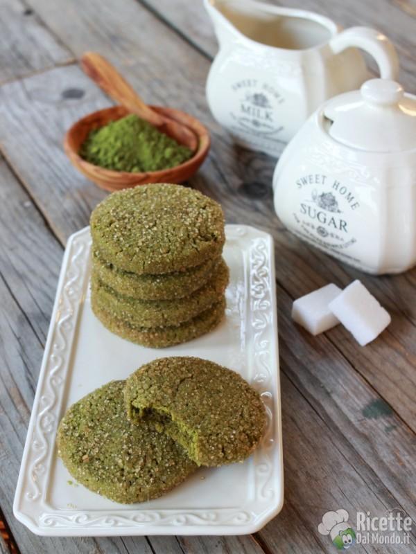 Frollini biscotti al tè matcha