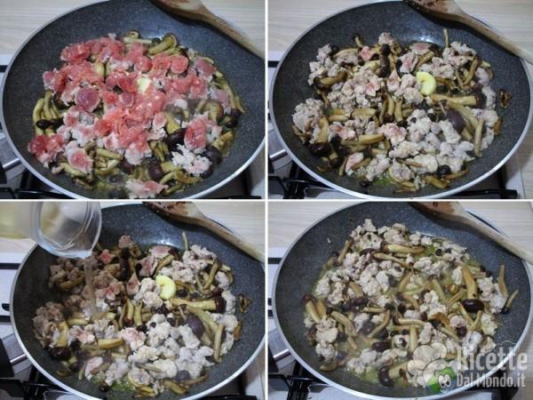 Frittata con salsiccia e funghi 3