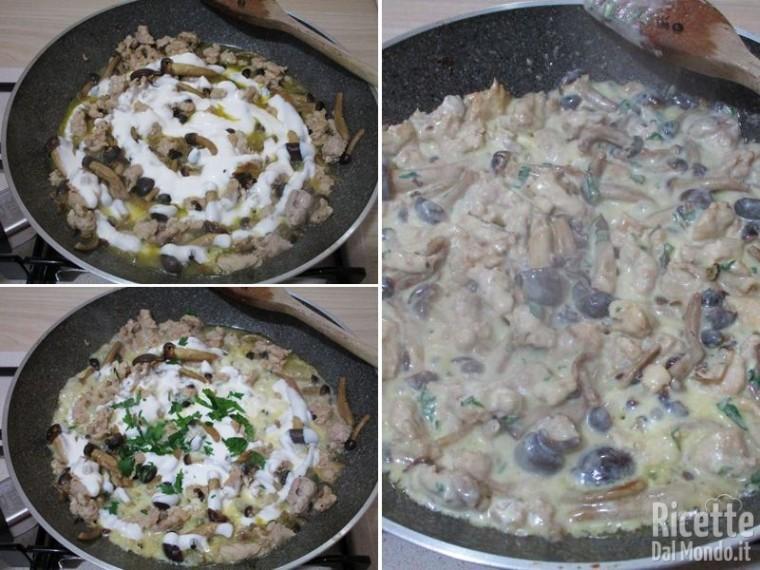 Frittata con salsiccia e funghi 4