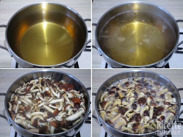 Funghi chiodini sott'olio 3