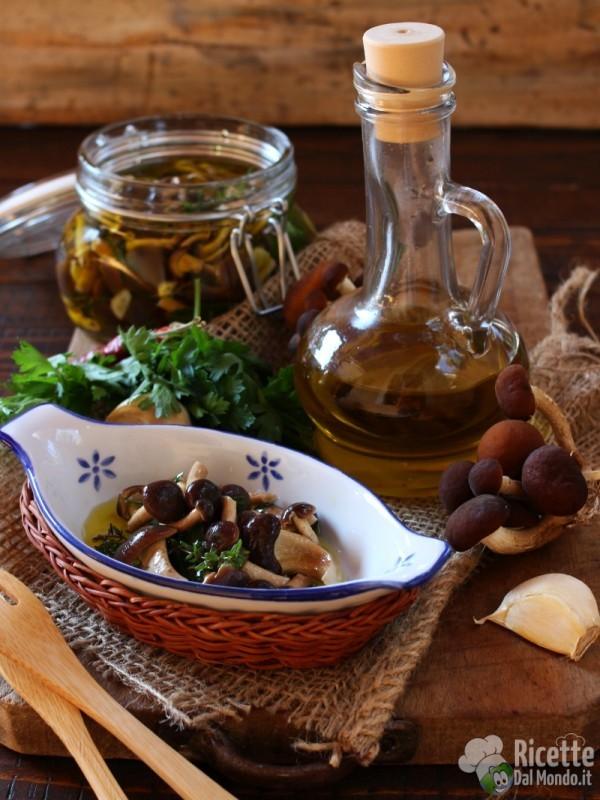 Funghi sott'olio, ricetta autunnale
