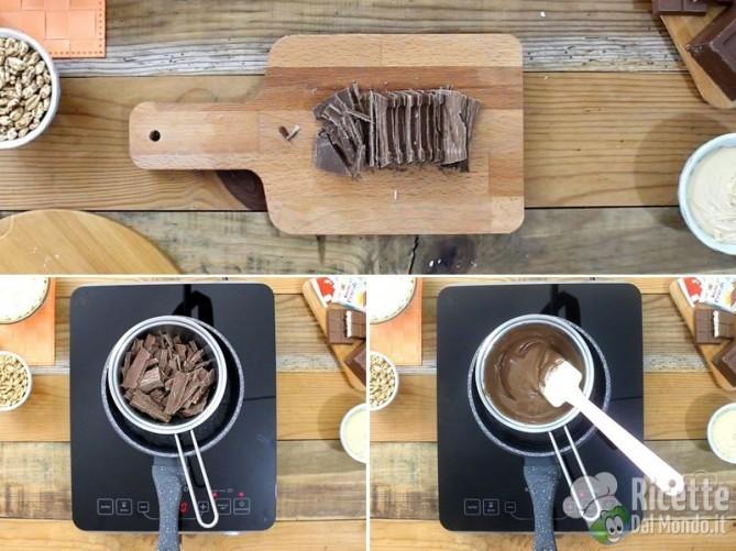 Torrone morbido al cioccolato kinder cereali 2