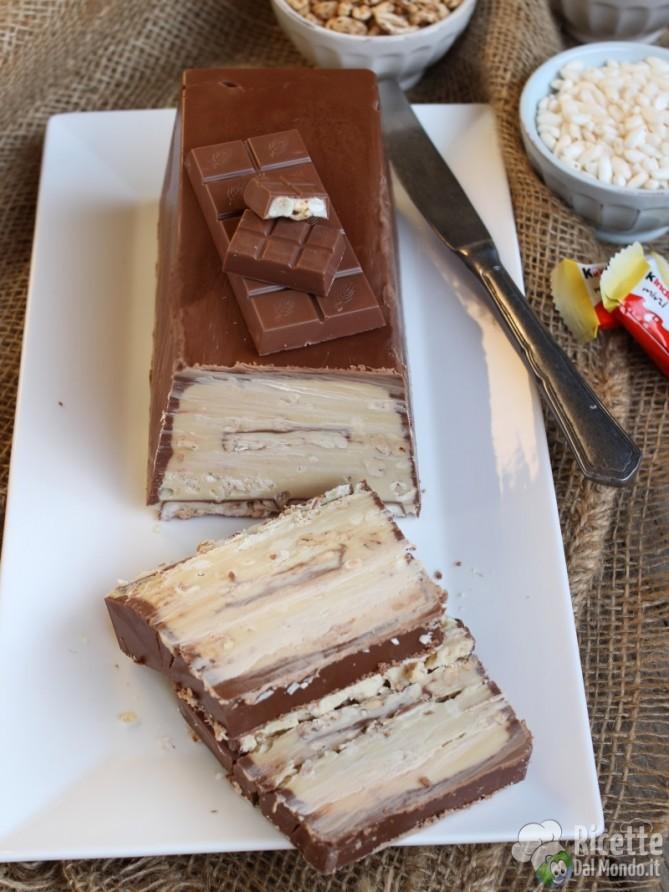 Torrone dei morti al kinder cereali e cioccolato bianco