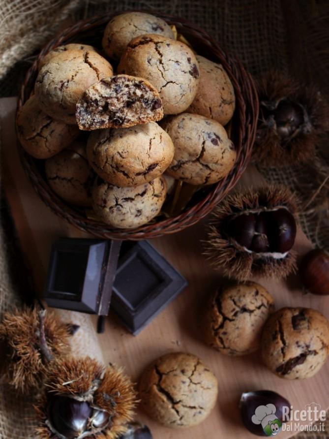 Ricetta dei biscotti con farina di castagne