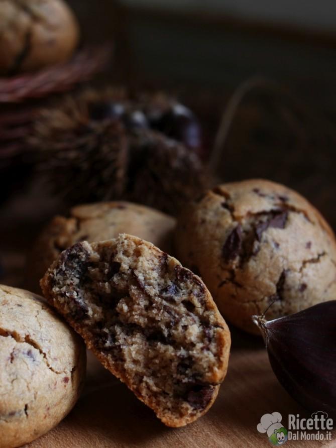 Come fare i dolcetti con farina di castagne e cioccolato