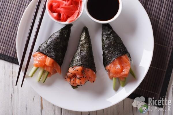 Tipi di sushi: temaki