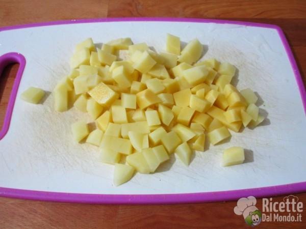 Pasta patate e pancetta alla birra 2