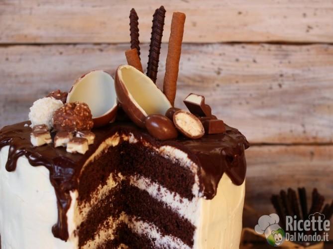Ricetta drip cake al kinder