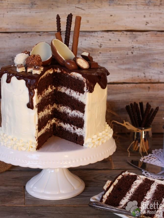 Come fare una drip cake al kinder