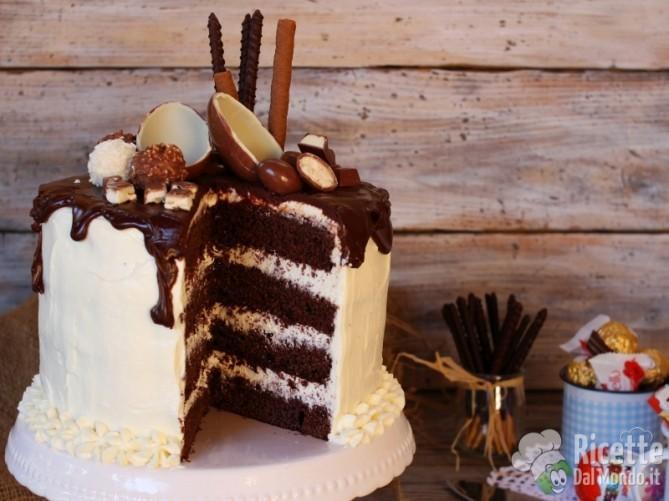Drip cake al kinder