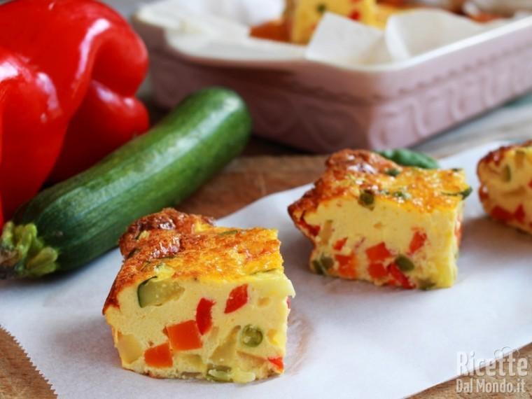 Semplice frittata di verdure al forno light