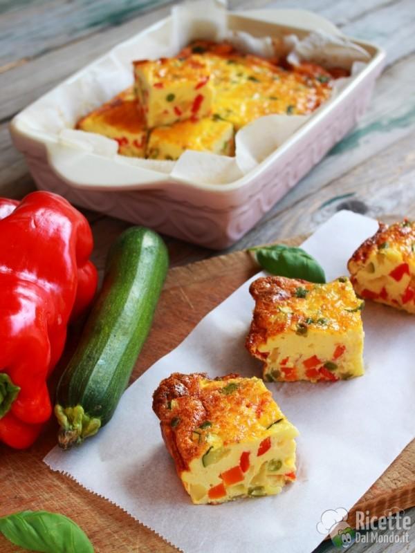 Come fare la frittata di verdure al forno