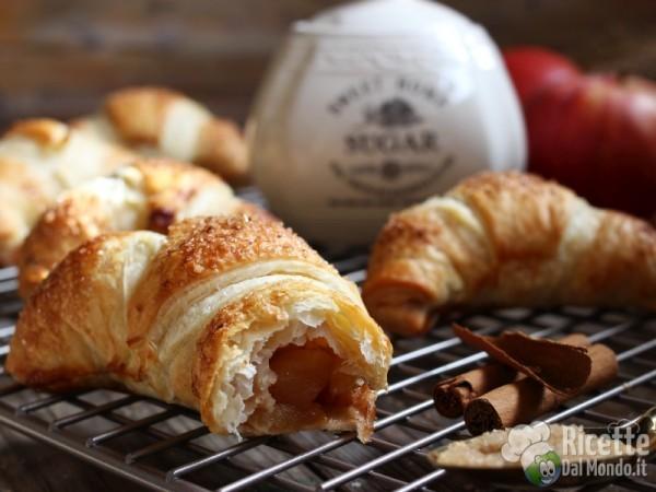 Come fare i croissant di pasta sfoglia alle mele