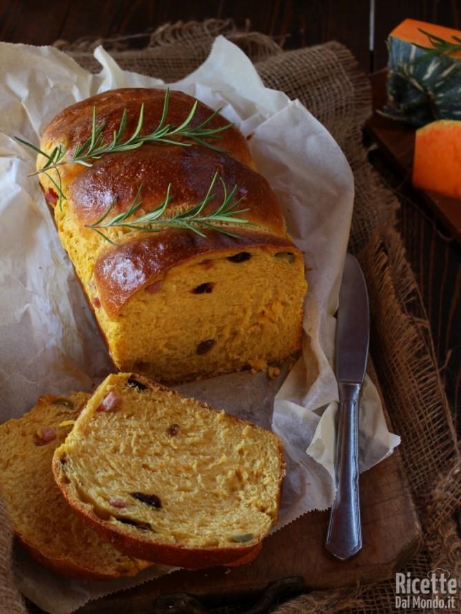 Ricetta semplice del pan brioche alla zucca salato