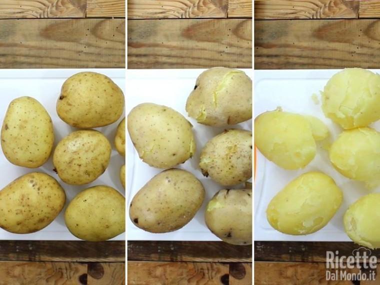 Polpettone di patate con prosciutto e provola 2