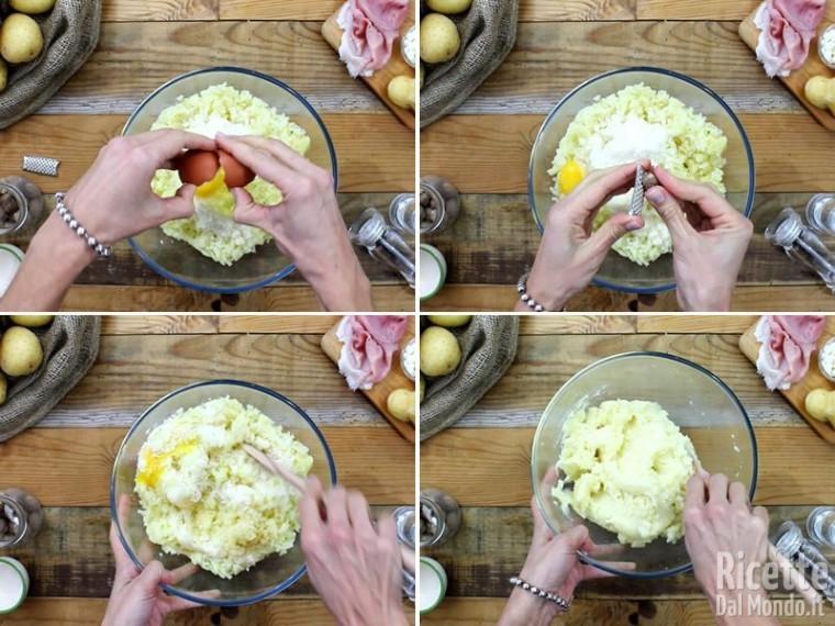 Polpettone di patate con prosciutto e provola 4