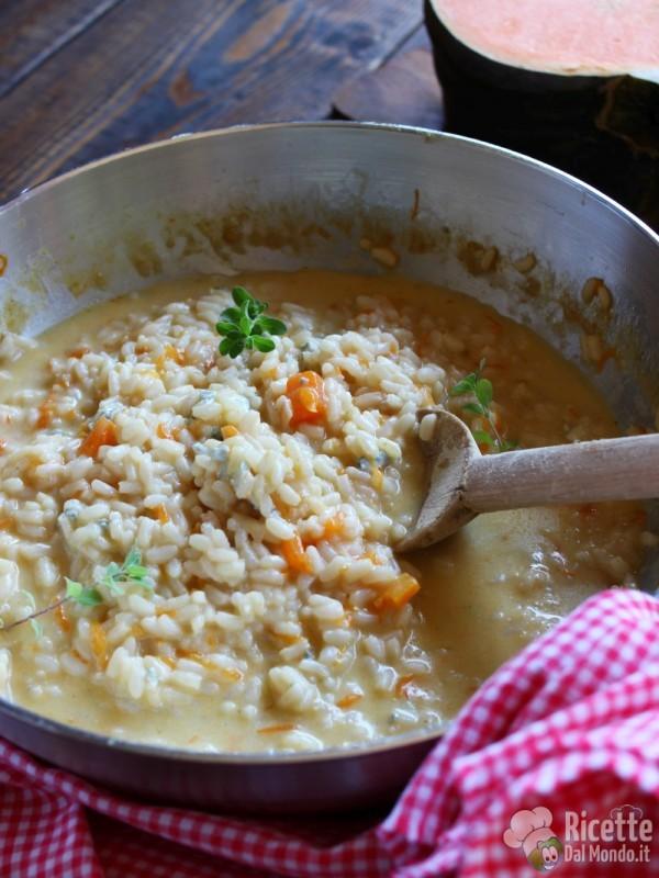 Come fare il risotto zucca e gorgonzola