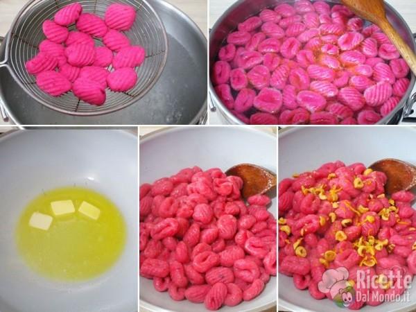 Gnocchi di patate e barbabietola 6