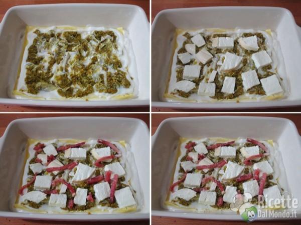 Lasagna al pistacchio e speck 3