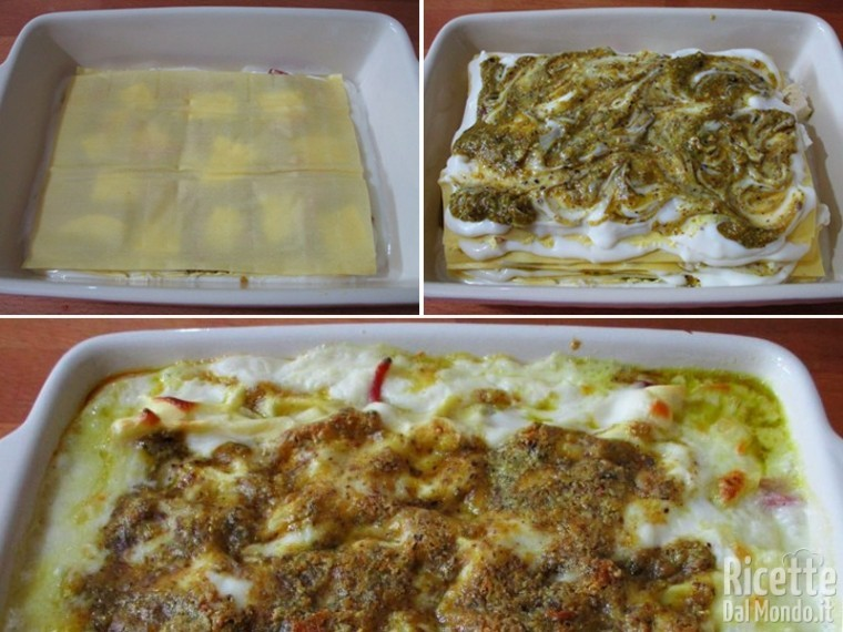 Lasagna al pistacchio e speck 4