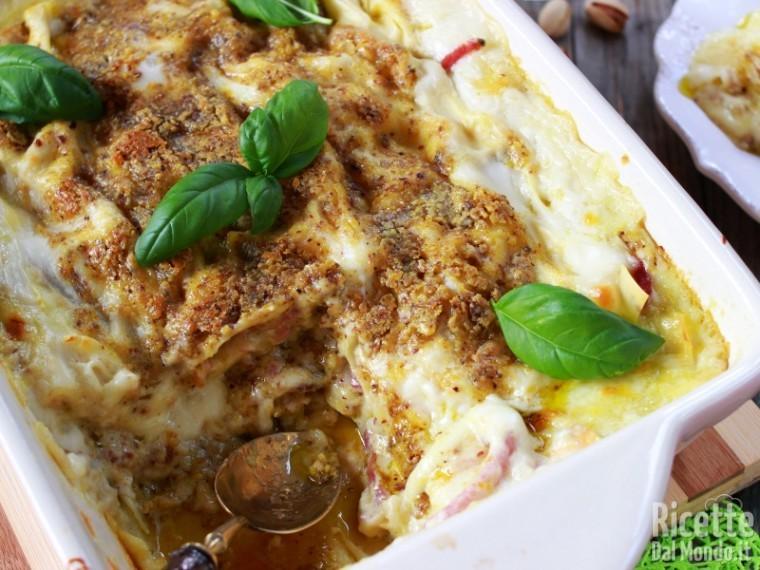 Ricetta lasagne al pesto di pistacchio