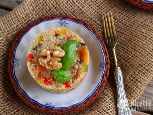 Ricetta sformatini di quinoa con verdure