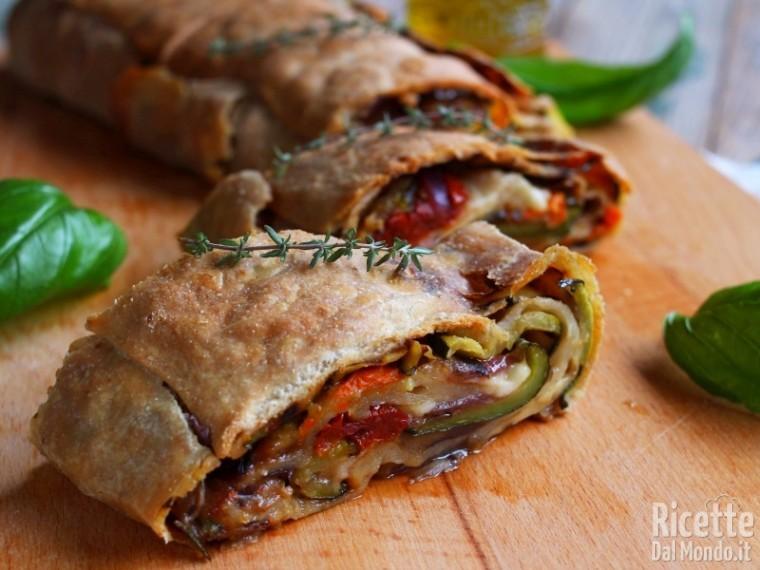 Ricetta strudel integrale di verdure e mozzarella