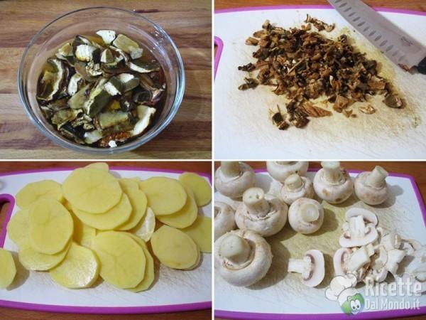 Teglia di funghi e patate al forno 2