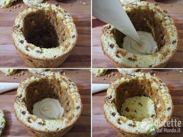 Panettone farcito con crema al mascarpone 8