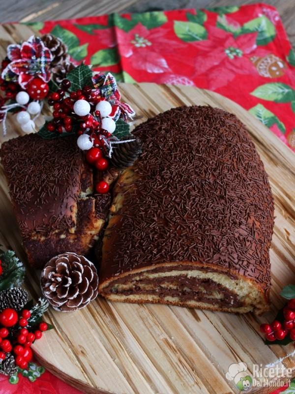 Ricetta tronchetto di Natale di brioche