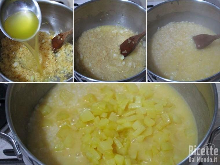 Riso con patate e speck 4
