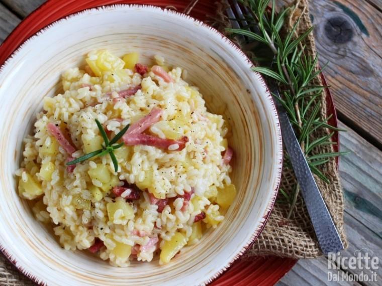Ricetta risotto patate e speck