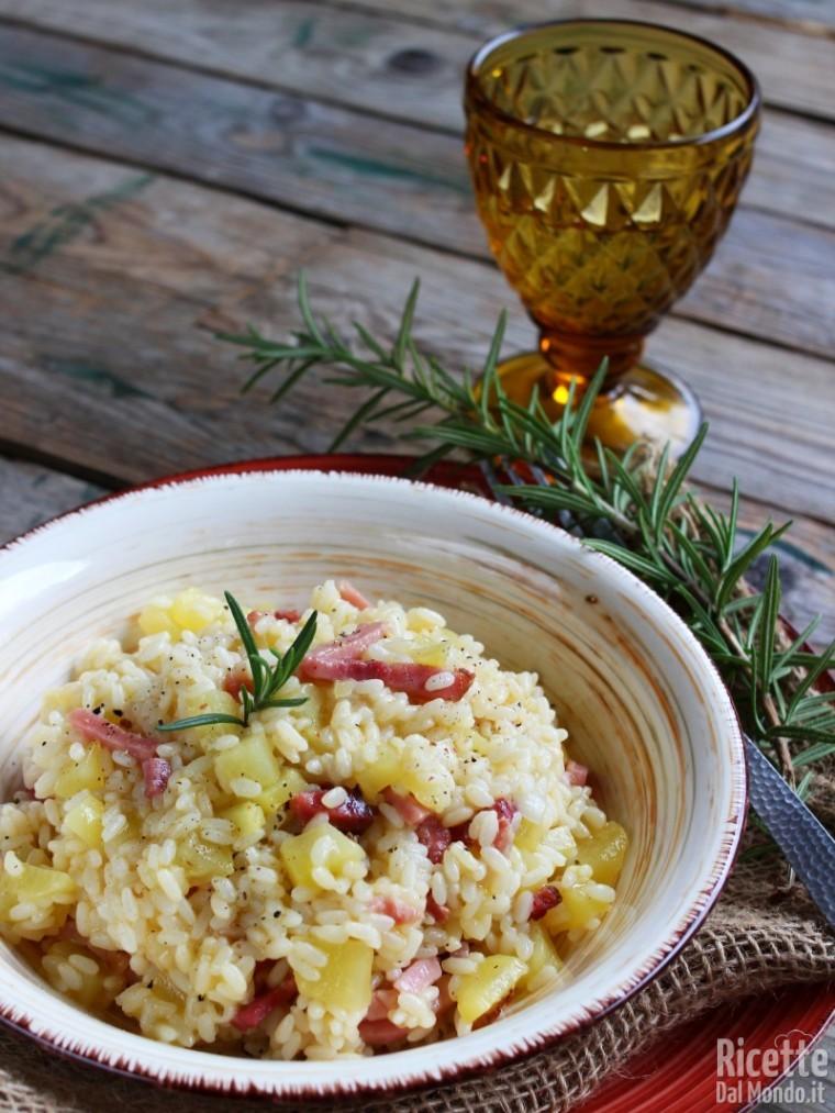 Come fare il risotto patate e speck