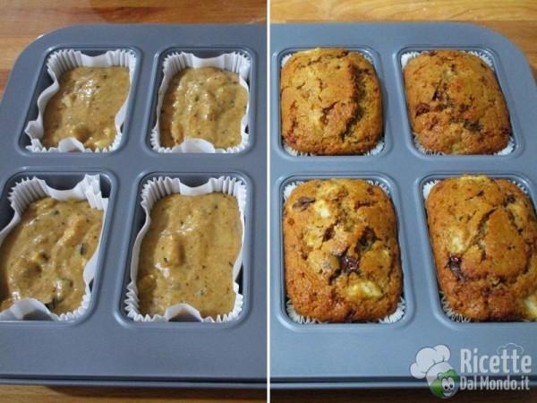 Tortine integrali pere e cioccolato 5