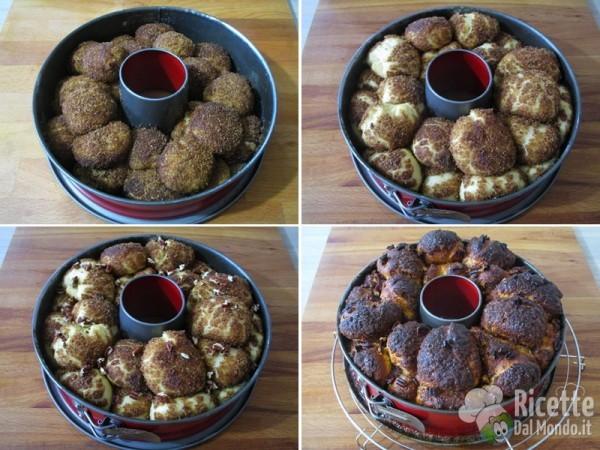 Pane delle scimmie dolce lievitato 7
