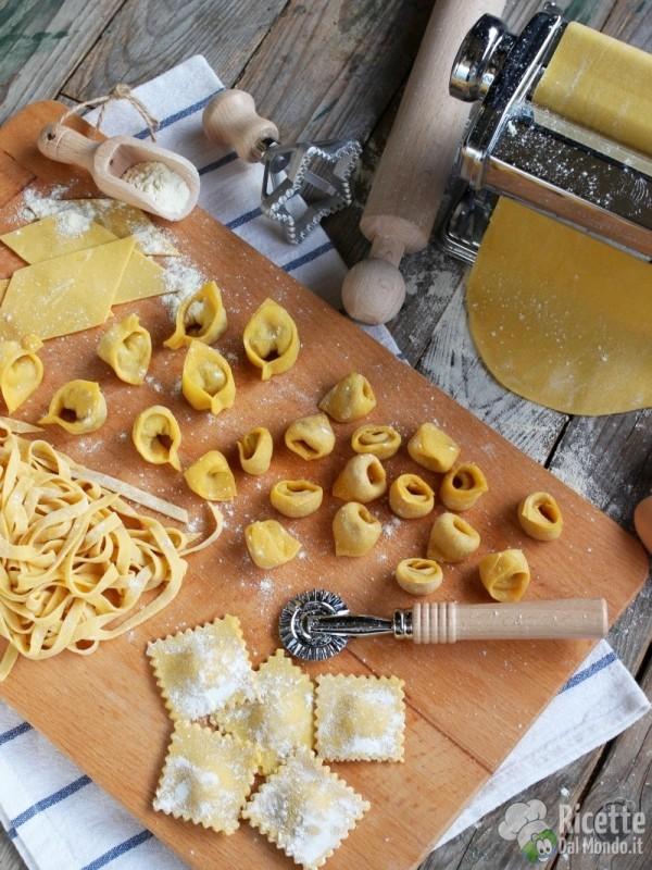 Pasta fresca all'uovo, formati e lavorazione