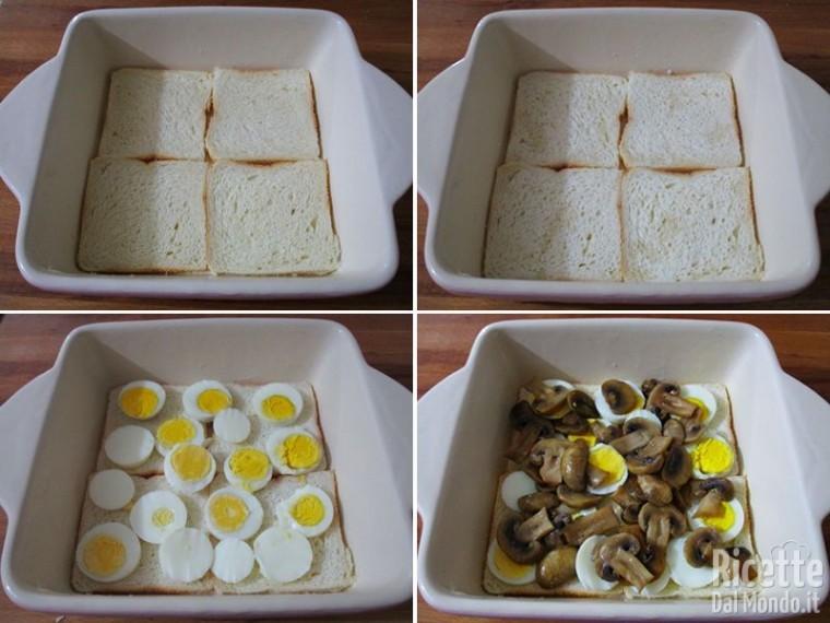 Teglia di uova e funghi 4
