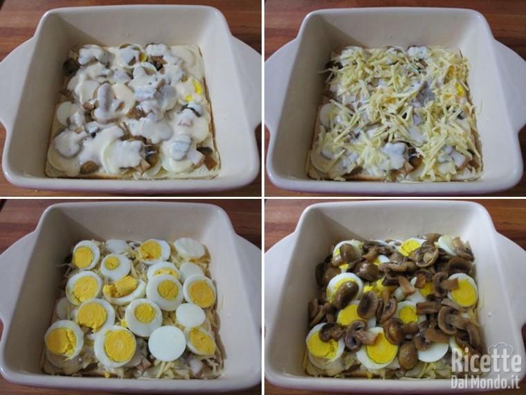 Teglia di uova e funghi 5