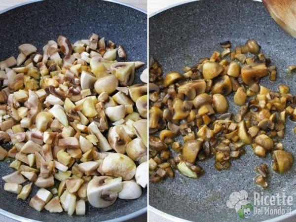 Risotto venere zucca e funghi 3