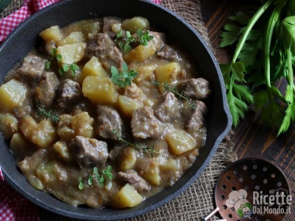 Ricetta spezzatino di vitello con patate